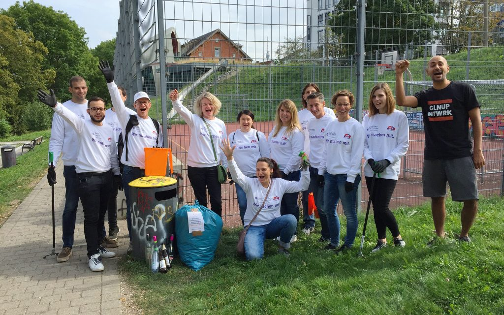 teamevent Socially Responsible Investing cleanup putzaktion